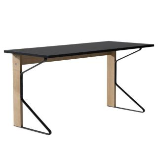 REB 005 KAARI DESK BLACK LINOLIUM / NATURAL OAK