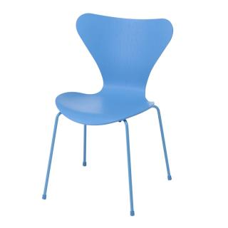 SERIES 7 CHAIR COLOURED ASH TRIESTE BLUE MONOCHROME