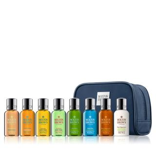 MOLTON BROWN TRAVEL KIT 8PCS WITH BLUE POUCH