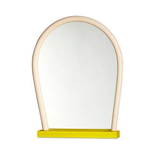 WRONG FOR HAY BENT WOOD MIRROR YELLOW BASE NATURAL FRAME