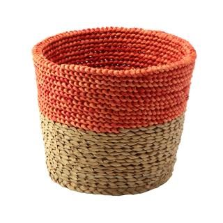 SERAX RAFFIA BASKET NATURAL & ORANGE M / B0913101