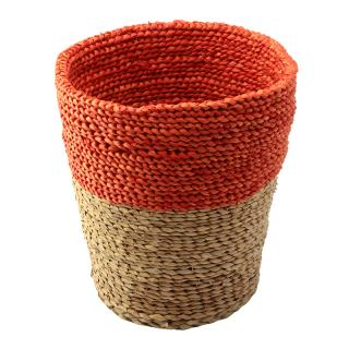 SERAX RAFFIA BASKET NATURAL & ORANGE L / B0913101