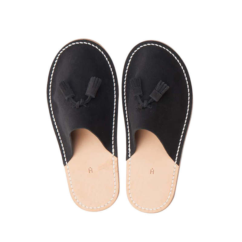 HENDER SCHEME LEATHER SLIPPER BLACK S