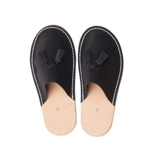 HENDER SCHEME LEATHER SLIPPER BLACK M