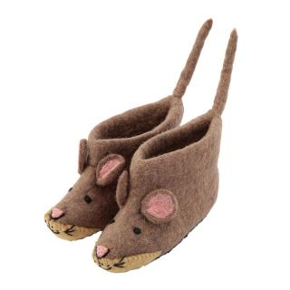 SEW HEART FELT ANIMAL SLIPPER MAE MOUSE
