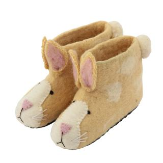 SEW HEART FELT ANIMAL SLIPPER RUBY RABBIT