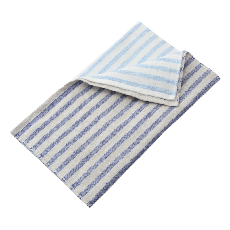 5 TREES LINEN BORDER FACE TOWEL 34X80 BLUE LBBT-N