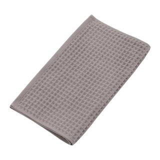 THE CONRAN SHOP ORIGINAL WAFFLE&GAUZE FACE TOWEL DARK GREY
