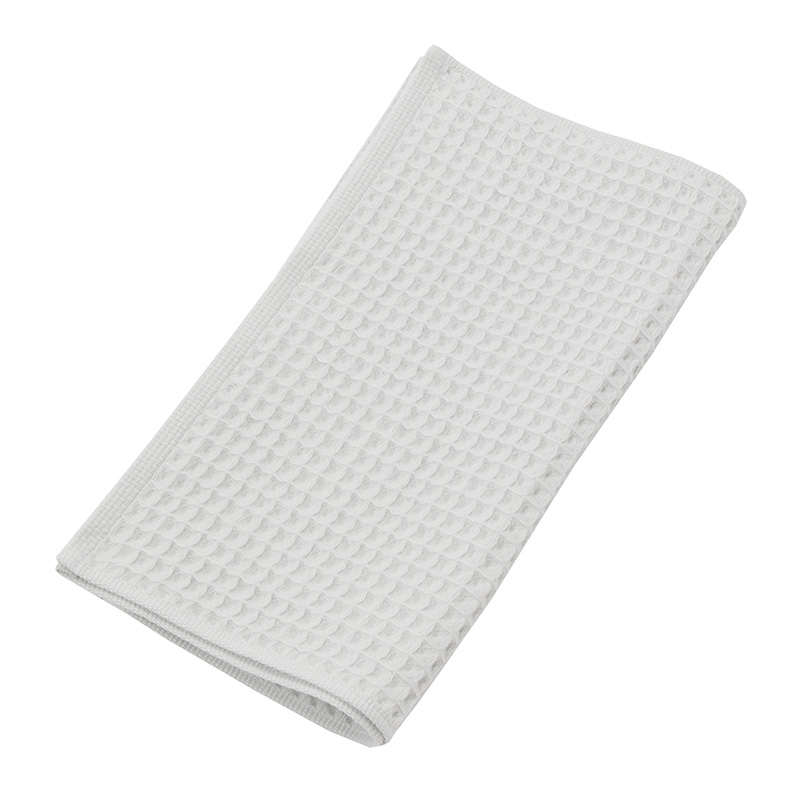 THE CONRAN SHOP ORIGINAL WAFFLE&GAUZE FACE TOWEL ICE GREY