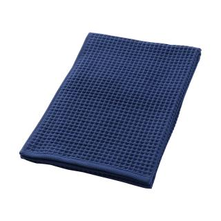 THE CONRAN SHOP ORIGINAL WAFFLE&GAUZE BATH TOWEL DEEP BLUE