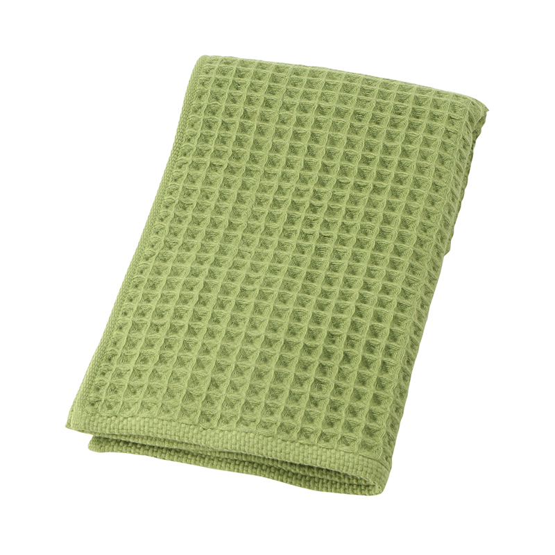 CONRAN WAFFLE&GAUZE FACE TOWEL 34X80 SMOKEY GREEN