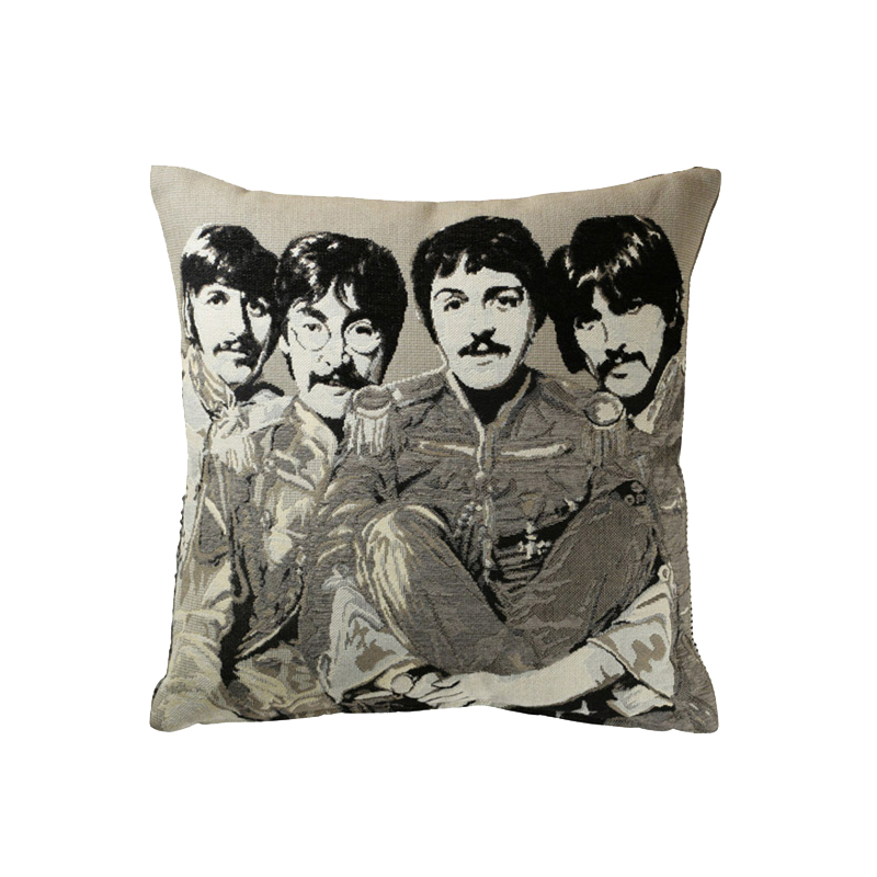 THE BEATLES COLLECTION CUSHION COVER B/W