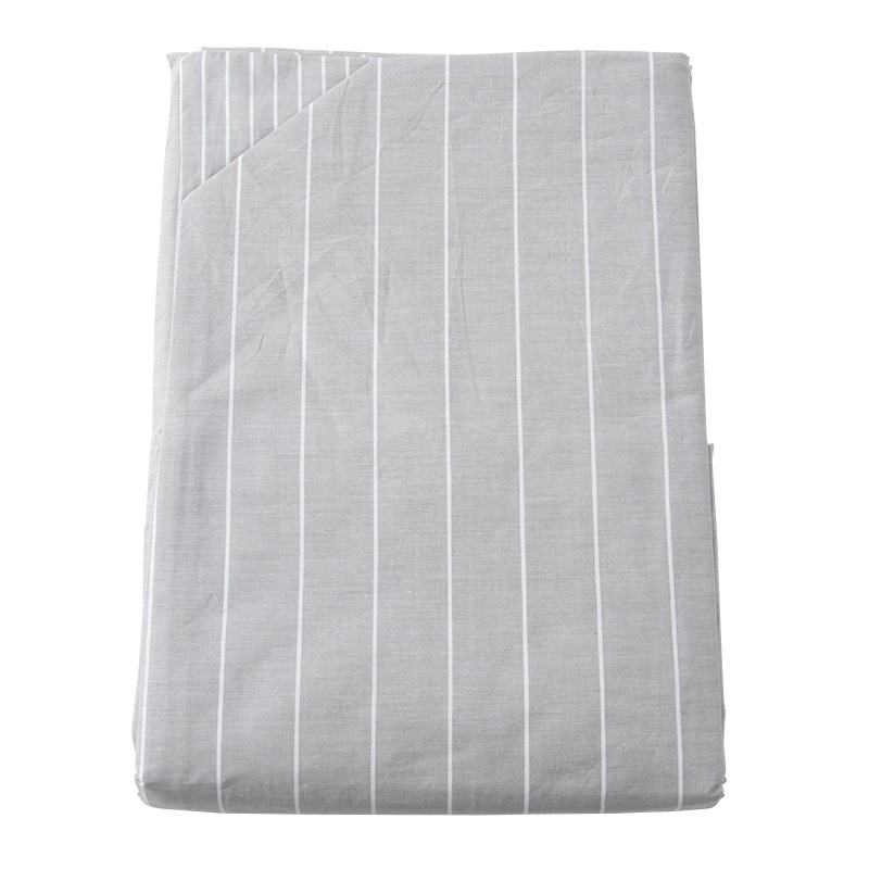 GREY STRIPE DUVET COVER SINGLE
