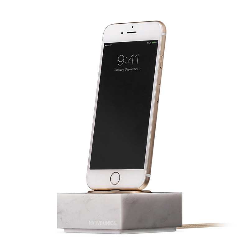 NATIVE UNION DOCK MARBLE FOR IPHONE WHIT