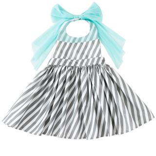 MARLMARL BOUQUET 4APRON DRESS SLASH STRIPE FOR KIDS