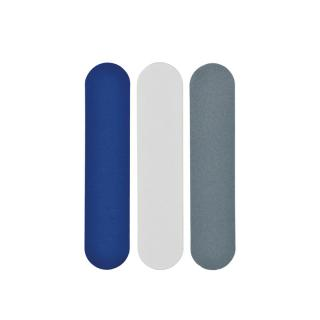 NOMESS COPENHAGEN NAILFILES SMALL 3PCS BLUE/WHITE/GREY