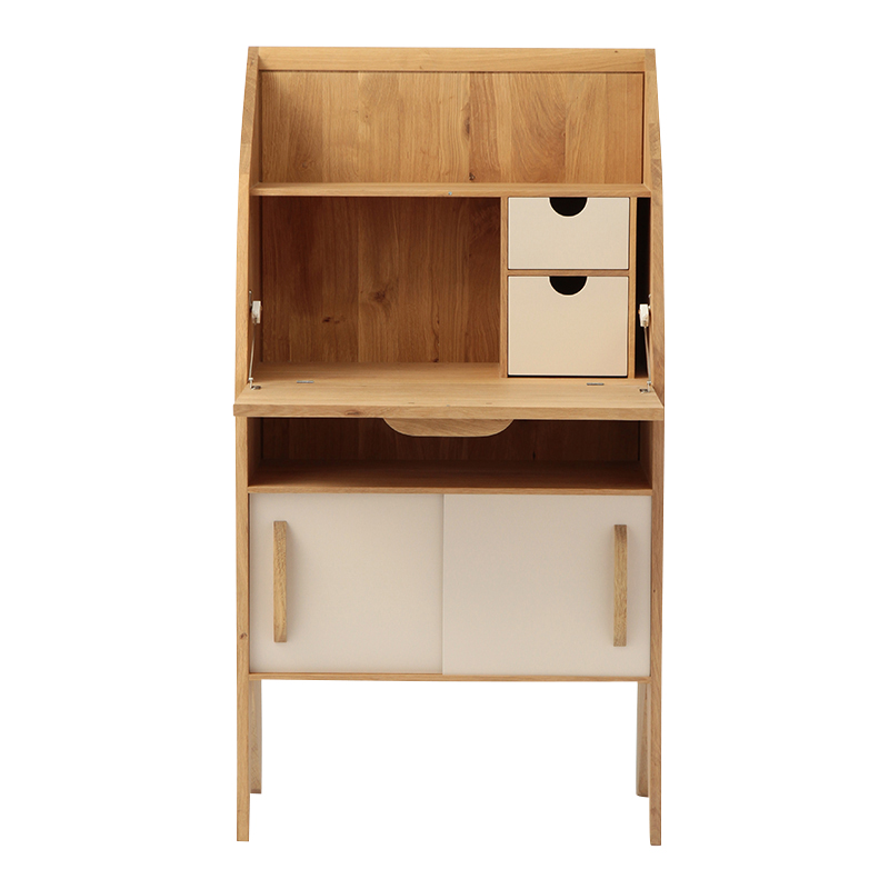 ETHNICRAFT OAK MARIUS ORIGAMI DESK CREAM
