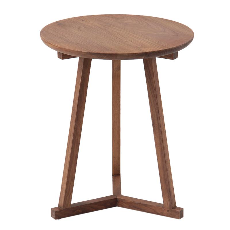 Ethnicraft walnut tripod side table the conran - Table basse conran shop ...