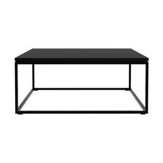OAK THIN COFFEE TABLE BLACK FRAME