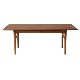 CH327/190 TABLE WALNUT/OAK MIX