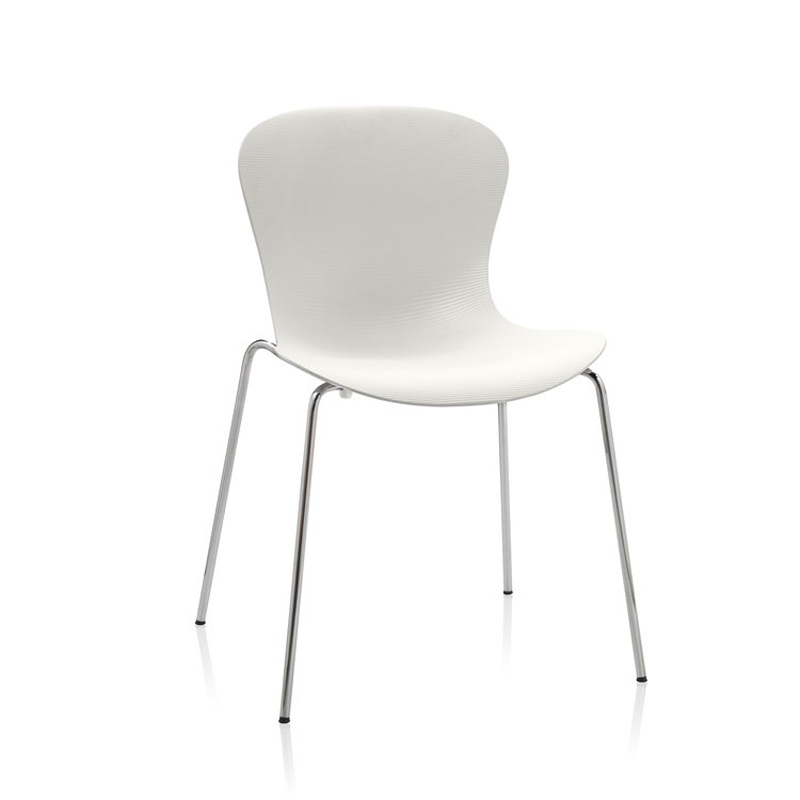 NAP CHAIR MILK WHITE CHROME LEG
