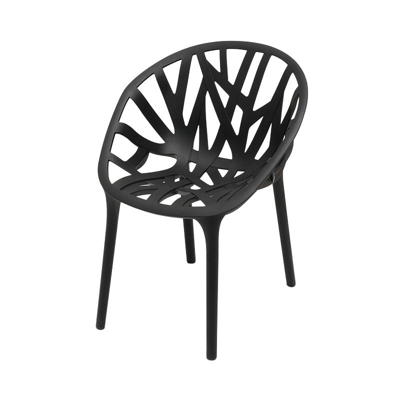 440015 VEGETAL CHAIR BLACK