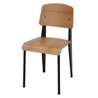 21043500 STANDARD CHAIR DEEPBLACK NATURAL OAK