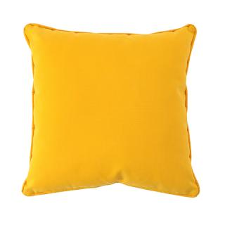 PILLOW CUSHION COVER YELLOW 40X40