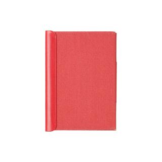 POSTALCO BOOK COVER FABRIC/CALFSKIN SIGNAL RED