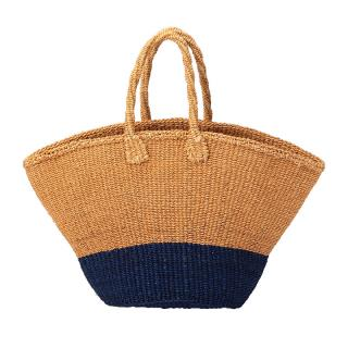MACHACOS TRIANGLE BAG BEIGE × NAVY