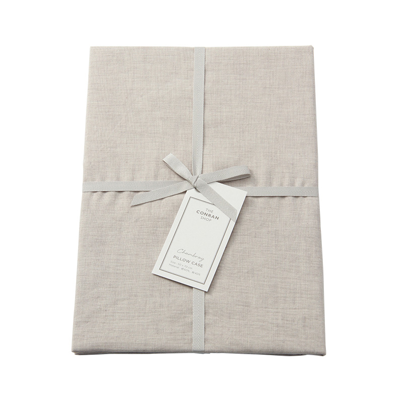 CHAMBRAY PILLOW CASE LIGHT GREY