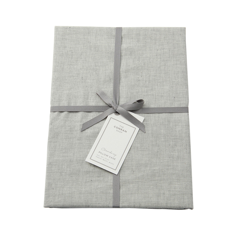 CHAMBRAY PILLOW CASE DARK GREY