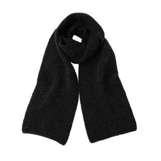 INIS MEAIN MOSS STITCH SCARF BLACK