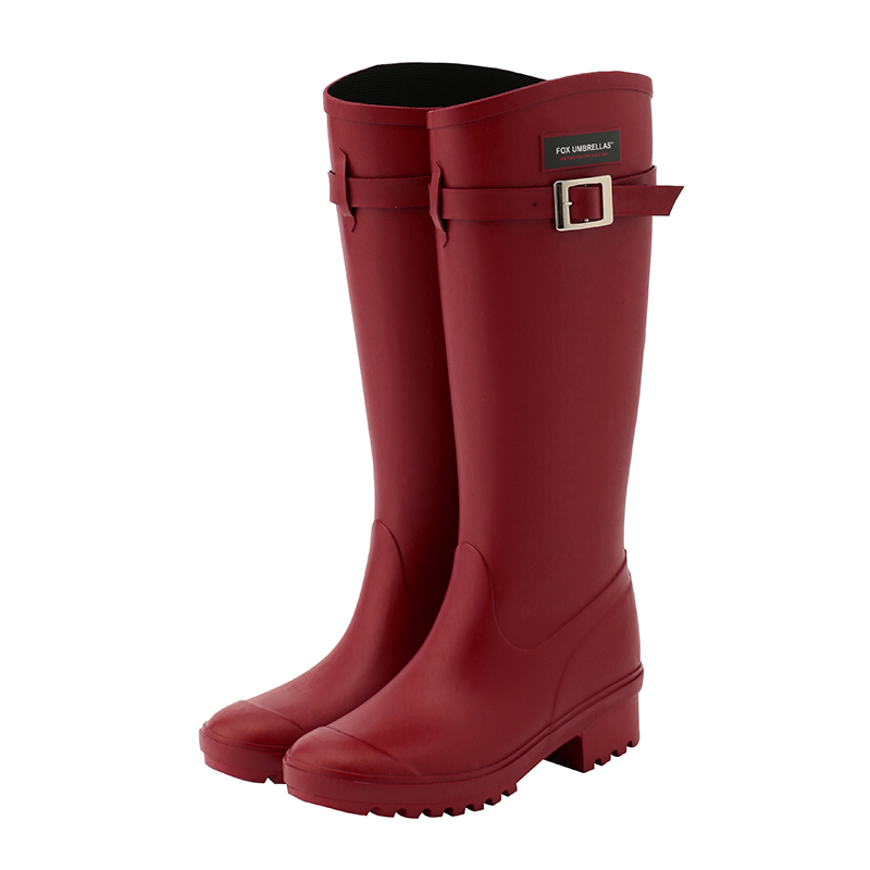FOX UMBRELLAS RAIN BOOTS LIBERTY DARK RED UK4