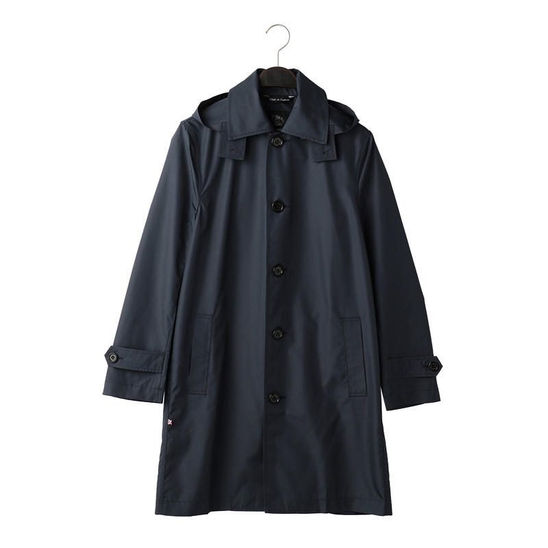 FOX UMBRELLAS MEN'S BALMACAAN COAT NAVY UK38