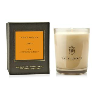 TRUE GRACE MANOR CLASSIC CANDLE AMBER
