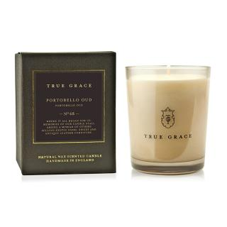 TRUE GRACE MANOR CLASSIC CANDLE PORTOBELLO OUD