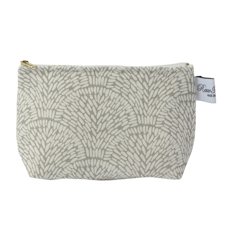 RAWXCLUSIVE SHELL TAUPE COSMETIC BAG