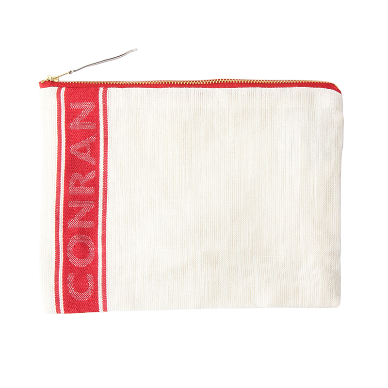 LINEN / COTTON FLAT POUCH RED