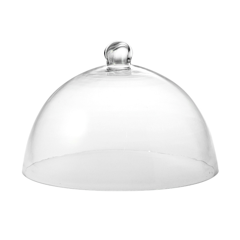 WHITE MARBLE BASE CHEESE DOME D.29.5CM
