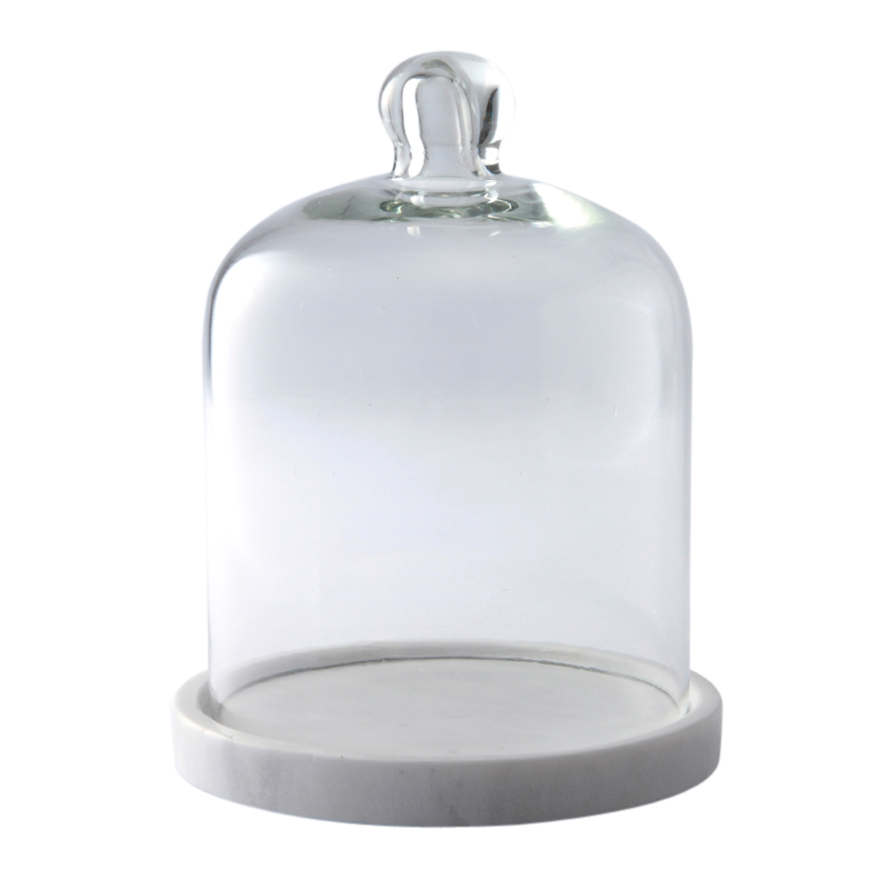 WHITE MARBLE BASE CANDLE DOME