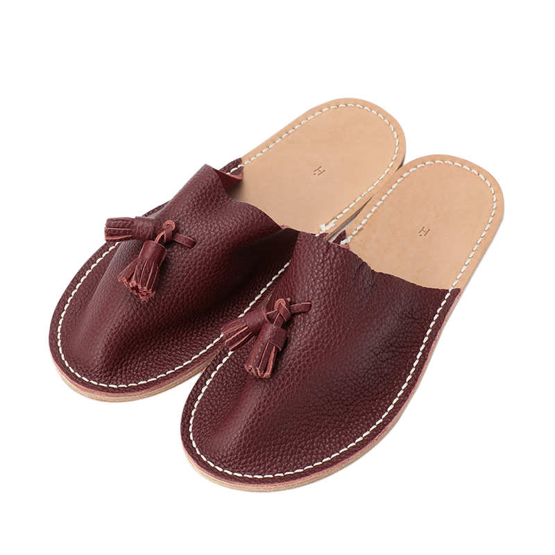 HENDER SCHEME LEATHER SLIPPER RED S