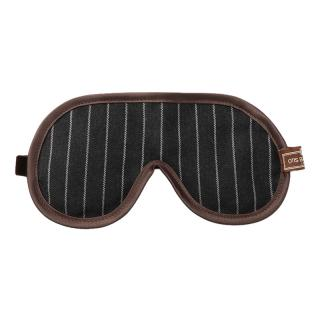 OTIS BATTERBEE EYE MASK GREY PINSTRIPE