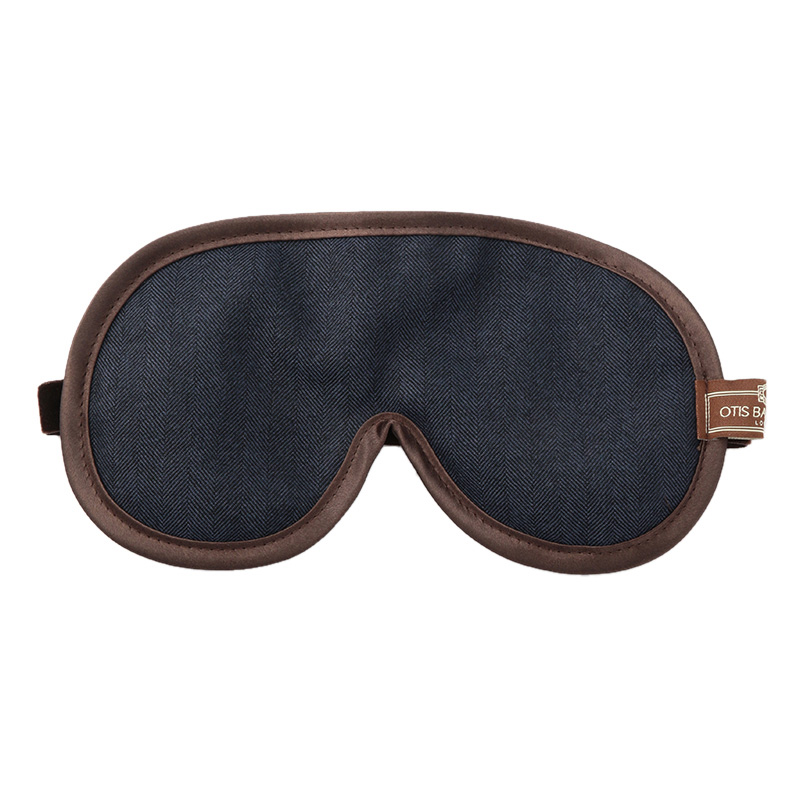OTIS BATTERBEE EYE MASK BLUE HERRINGBONE