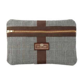 OTIS BATTERBEE CLASSIC  ENVELOP WASHBAG PRINCE OF WALES CHECK