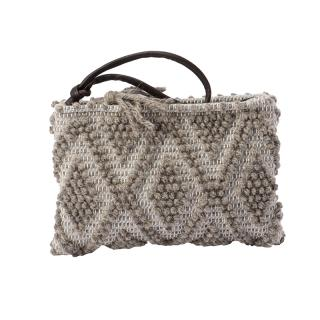 ANTONELLO PIATTINA CLUTCH LIGHT GREY