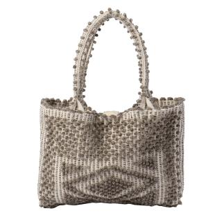 ANTONELLO LISCIA SMALL TOTE BAG LIGHT GREY