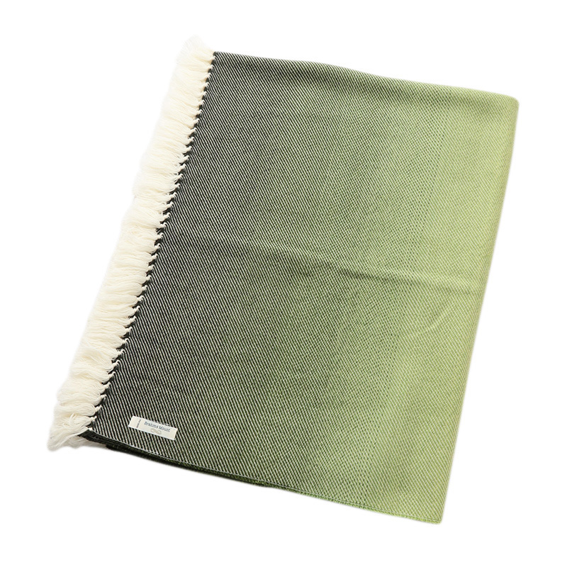 OMBRE THROW GREEN