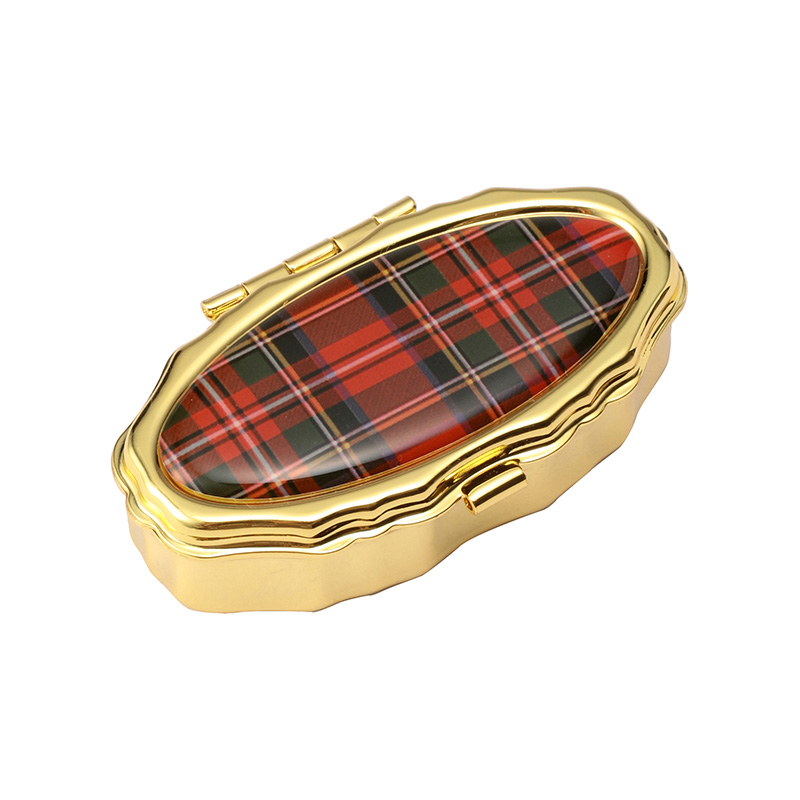 ANDREA GARLAND LIP BALM PILLBOX 6ML TARTAN