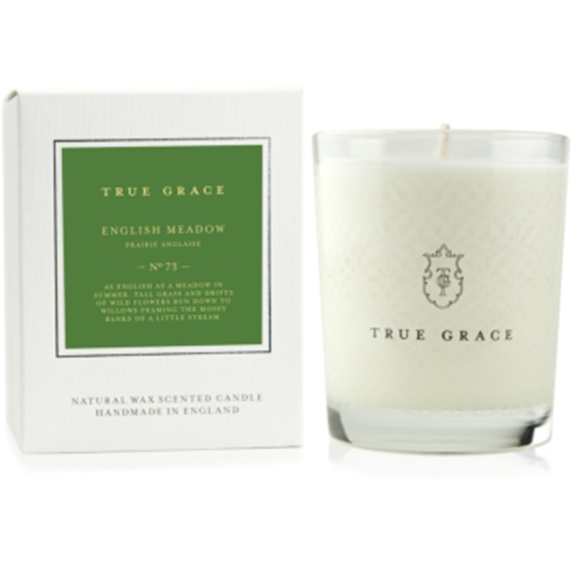 TRUE GRACE VILLAGE CLASSIC CANDLE ENGLISH MEADOW